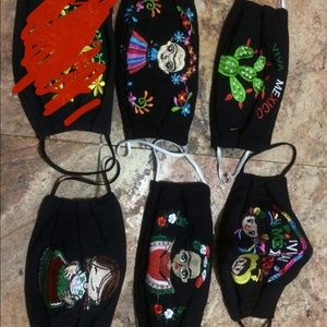 embroidered masks. From Mexico 🇲🇽